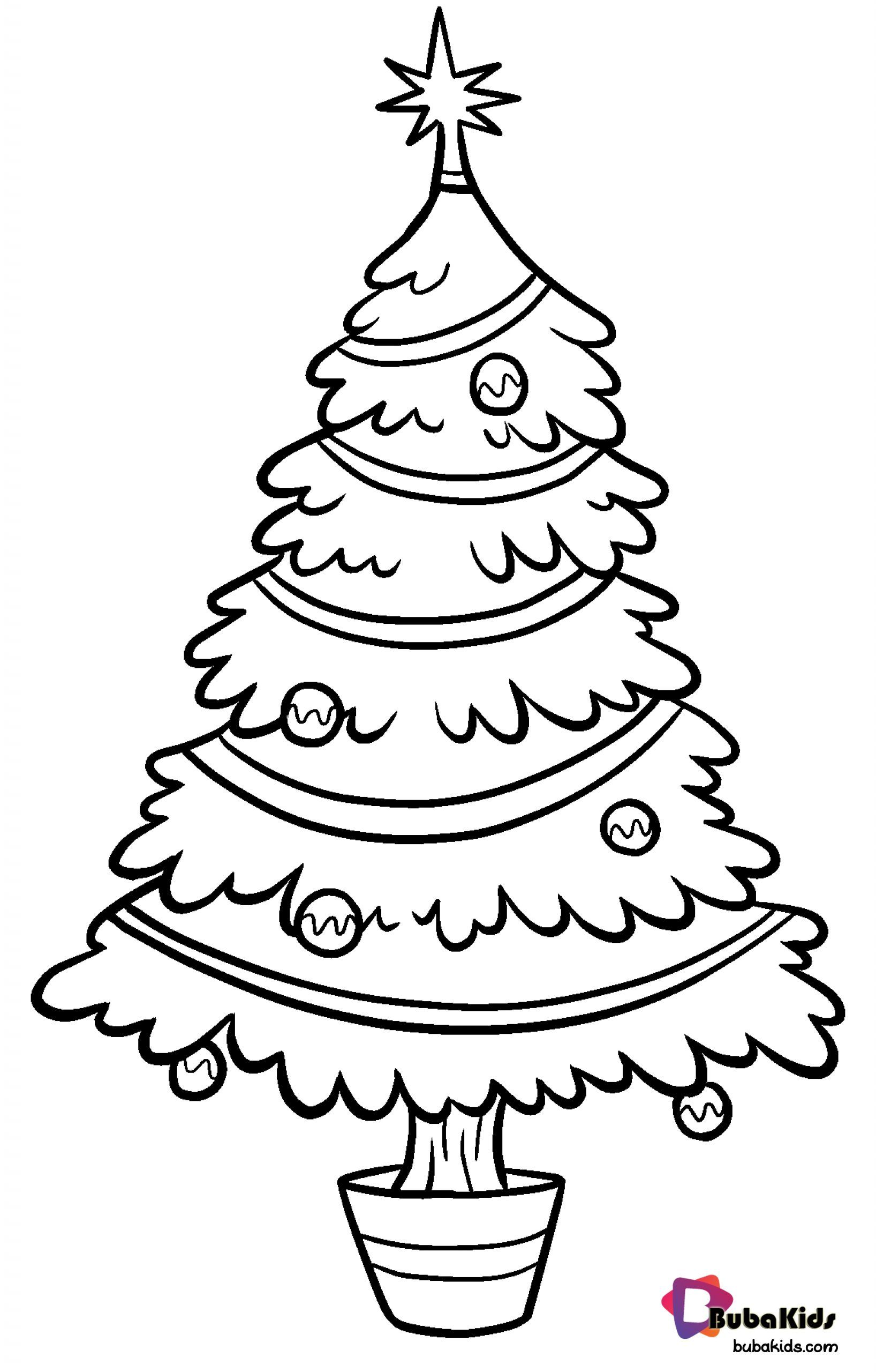 Free Download And Printable Christmas Tree Coloring Pages Collection Of Cartoon Coloring Pa Christmas Tree Template Christmas Tree Clipart Tree Coloring Page