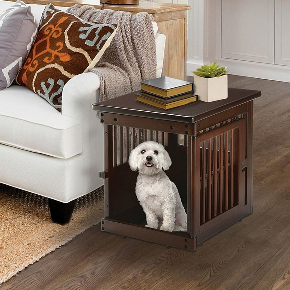 Richell Small Wooden End Table Dog Crate Bed Bath Beyond Dog Crate Furniture Pet Crate Furniture Diy Dog Crate