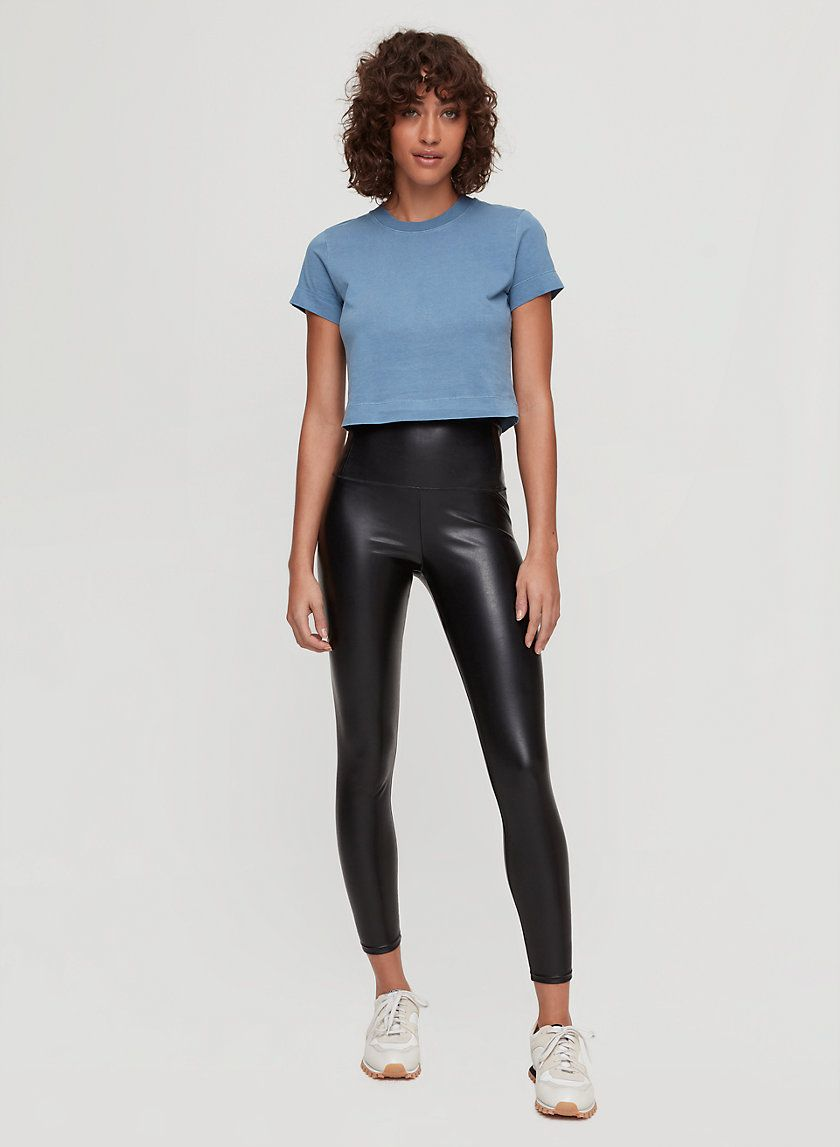 Daria Ankle Pant Vegan Leather Leggings Ankle Pants Leather Leggings Outfit