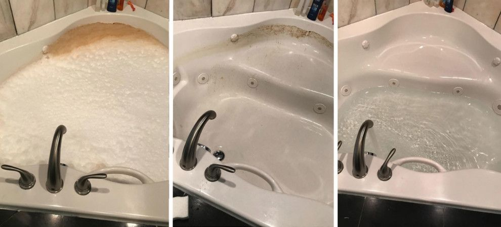 If Your Bathroom Is Absolutely Disgusting This Post Will Help You Change That Bathtub Cleaner Best Cleaning Products Jetted Bath Tubs