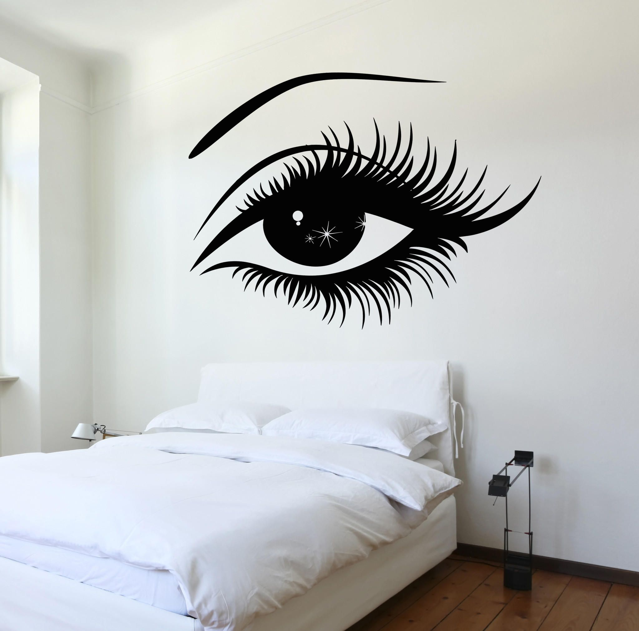 Vinyl Decal Wall Decal Womans Eyes Sexy Girl Bedroom Sticker - Wall stickershuhushopxaudrey hepburn beautiful eyes removable