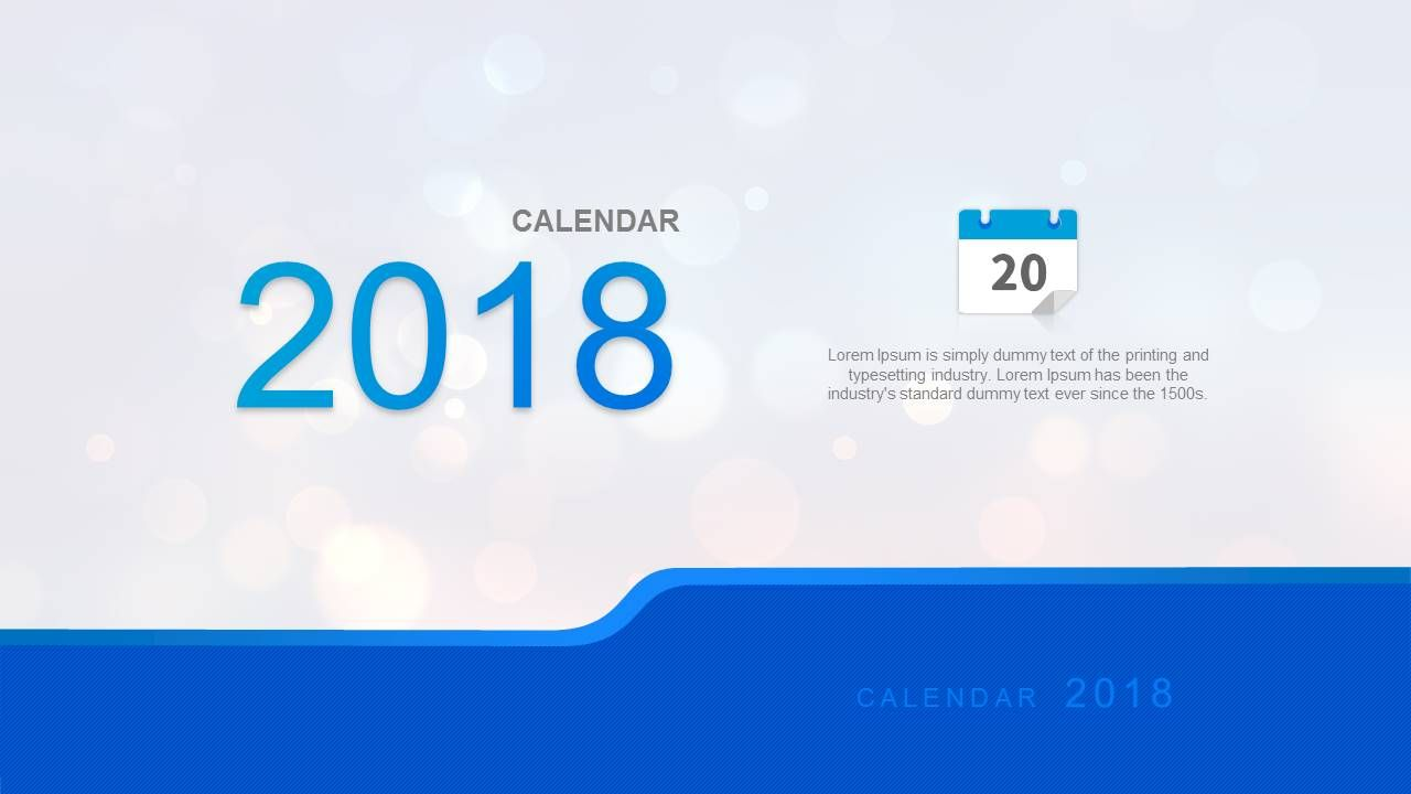 Simple  Calendar For Powerpoint Related Templates  Goals