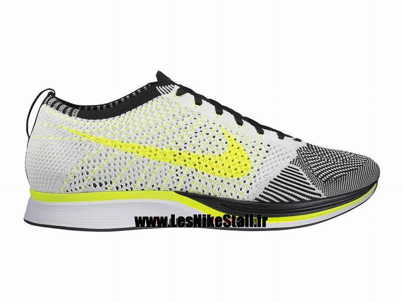2f060fc4b82eb sweden officiel nike flyknit racer chaussure de running nike mixte pas cher  pour homme blanc noir