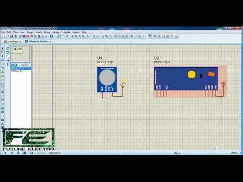 How to add RF MODULE Library in proteus   Video Tutorial in