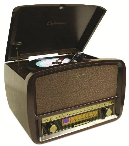 Electrohome Signature Retro Hi-Fi Stereo System with Record Player, CD, MP3, AM/FM, Vinyl-to-MP3 – EANOS700