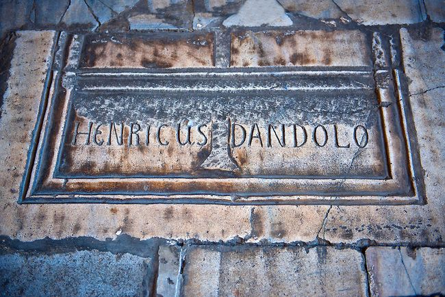 Tomb Of Enrico Dandolo The Infamous 41st Doge Of Venice Who