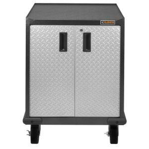 Gladiator 3 Ft Mobile Workbench With Hardwood Top Adjustable Shelving Storage Garage Storage Cabinets