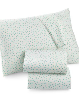 Martha Stewart Whim Collection Novelty Print 200 Thread Count Percale Twin Sheet Set, Only at Macy's