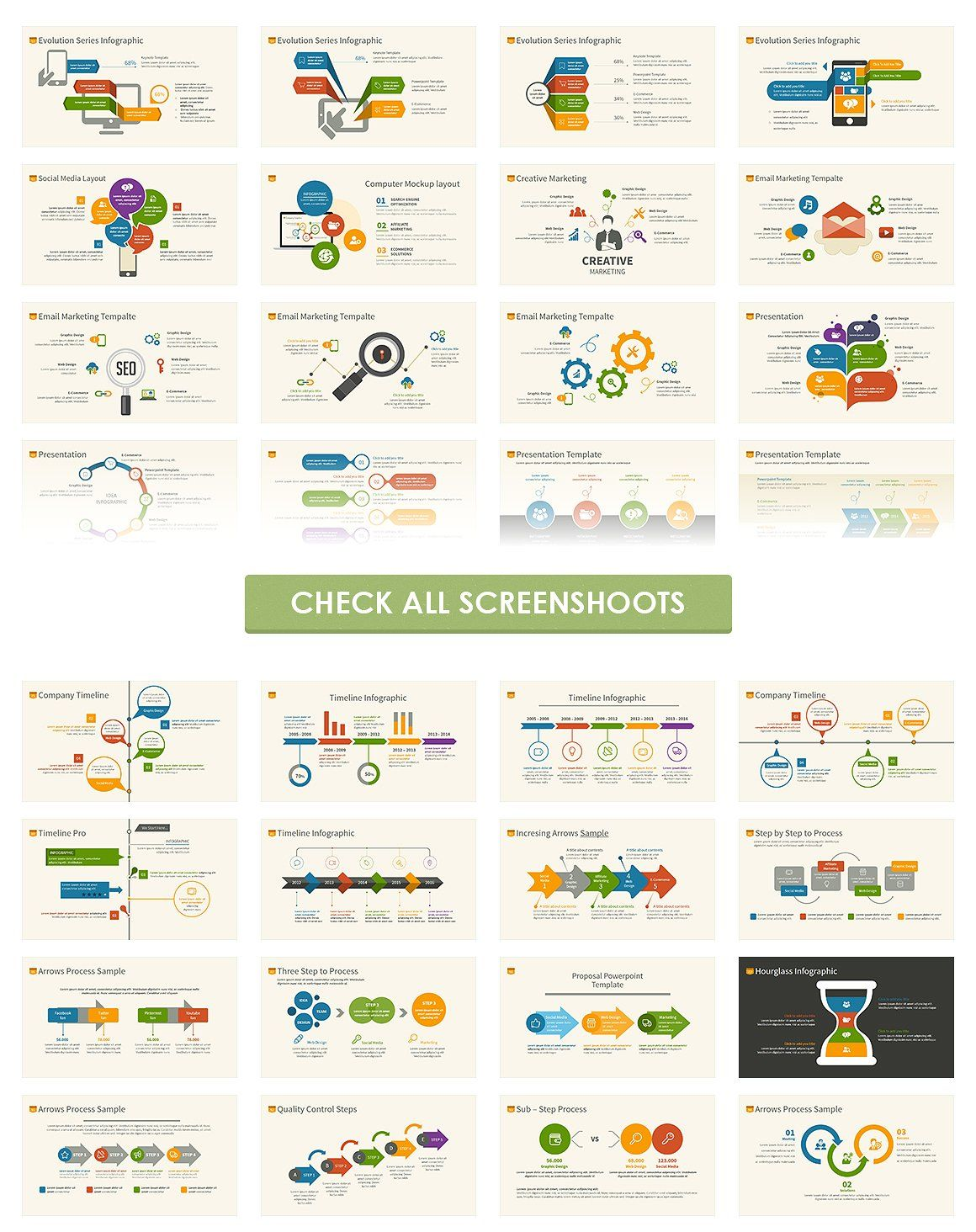 Infographic Powerpoint Template By Slide Good On Creativemarket