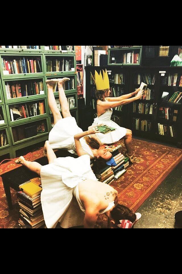 Racine + Southern Dance Exchange at Burke's Books, April 3, 2015