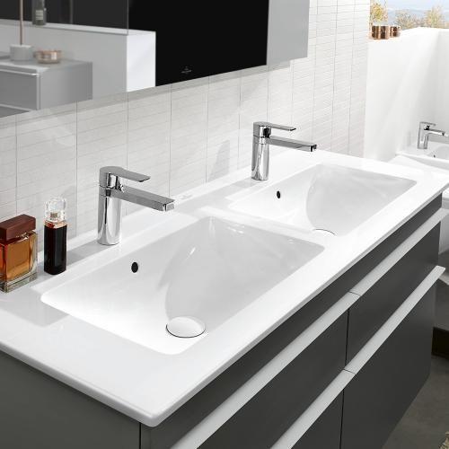 Villeroy Boch Venticello Schrank Doppelwaschtisch Weiss Mit Ceramicplus Hausbau Idee Doppelwaschtisch Villeroy Boch Waschbecken Und Waschtisch