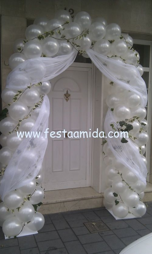 Festive wedding balloon arch | Wedding Balloon Decorations ...
