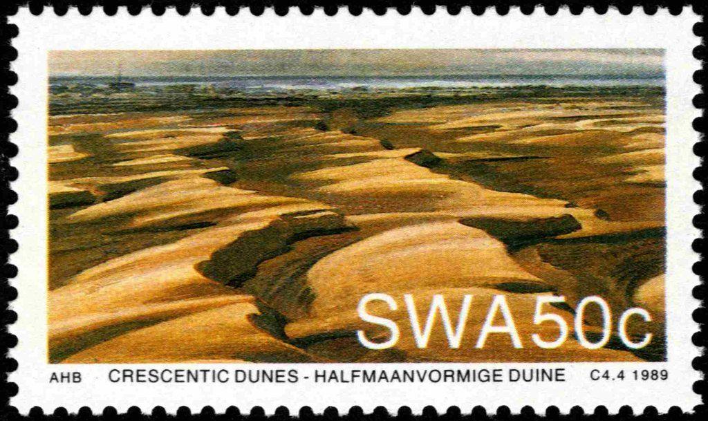 Stamp Crescent Dunes South West Africa Namib Desert Sand Dunes Mi Na Sw 644 Sn Na Sw 621 Yt Na Sw 601 West Africa Namib Desert Africa
