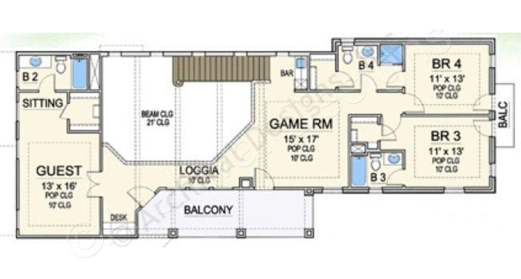 villa palladian house plan planos