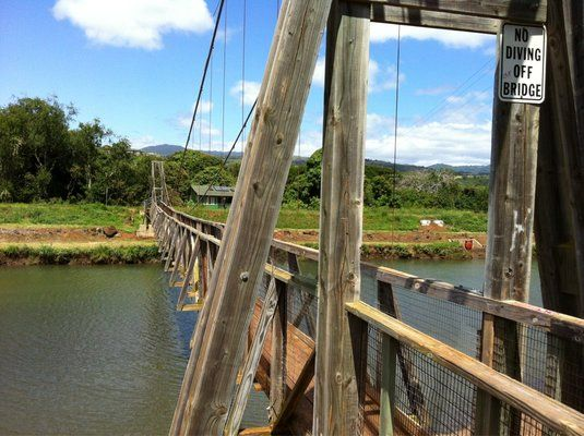 Hanapepe Swinging Bridge Kauai Calling Me