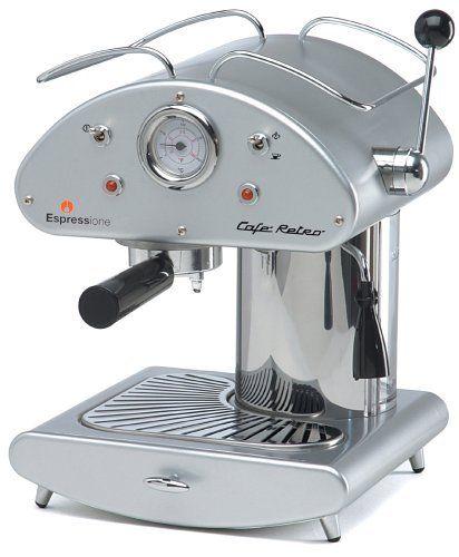 Espressione Café Retro Espresso Machine, Silver by Espressione ...