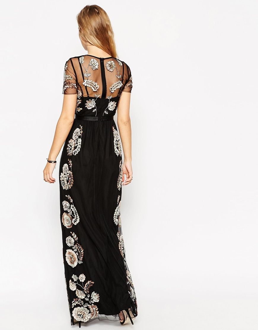 Image 2 of Needle & Thread Petal Frame Embellished Maxi Dress
