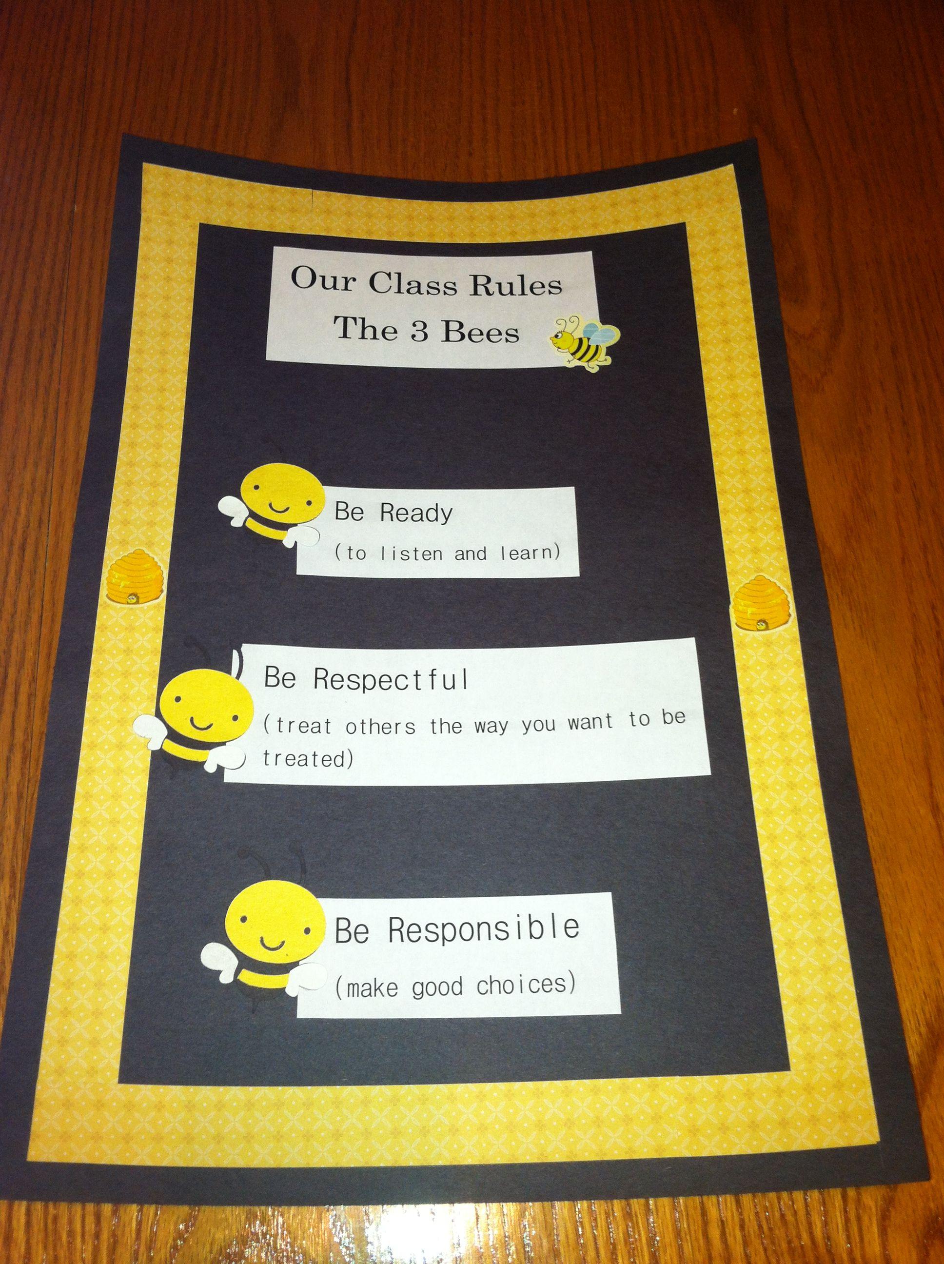 Rules For A Preschool Classroom