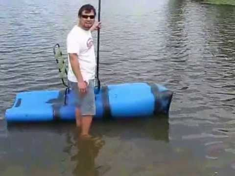 My Homemade Kayak Out Of Plastic Barrels Fail