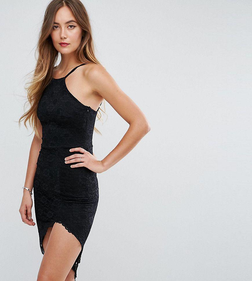 City Goddess Tall - Neckholder-Kleid mit asymmetrischem Saum ...