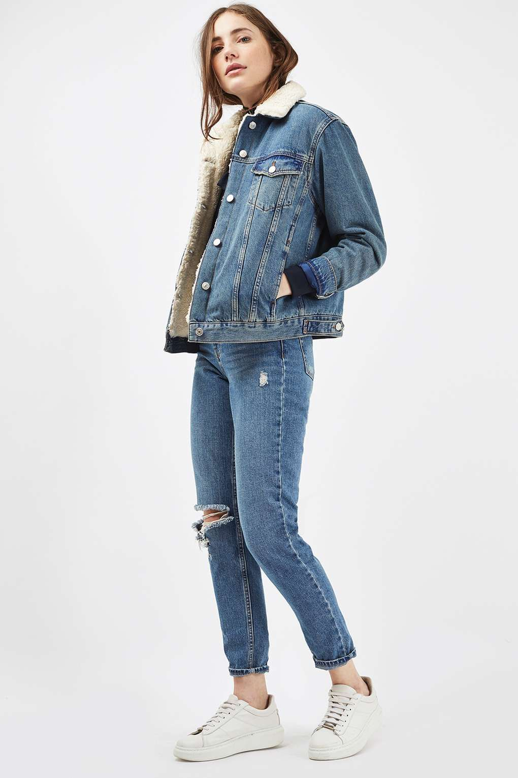 489d985280 Carousel Image 2 Borg Denim Jacket, Topshop Denim Jacket, Denim Shop,  Topshop Style