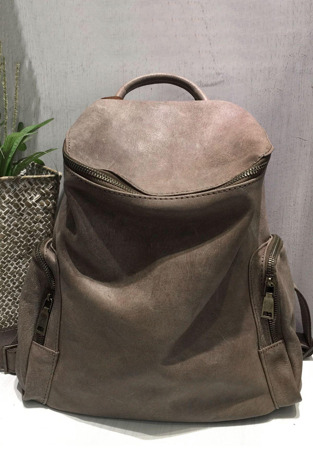 A PLACE Pocket Design Zip Closure Backpack Backpacks