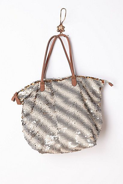 Gilded Paillettes Tote #anthropologie