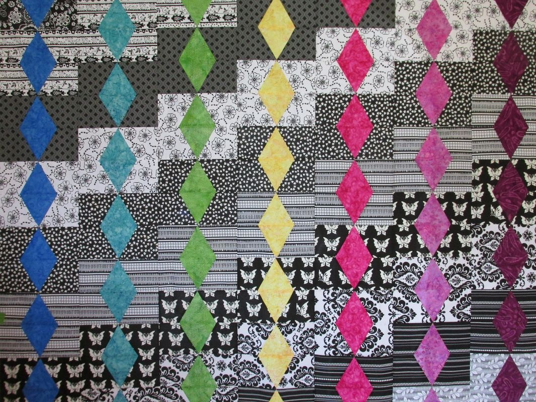 Diamond quilt blocks using Scrap Crazy 6 templates from Creative ...