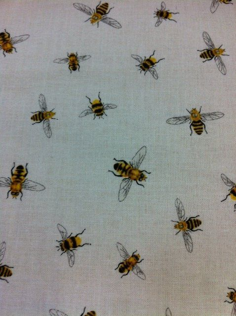 Bee Mine Honey Country French Insect Bugs Cotton Fabric Quilt CR348