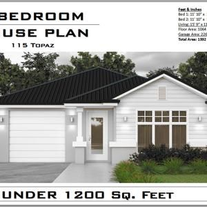 Construction House Plans For Sale 2 Bedroom 2 Bathroom House Plan 1064 sq feet