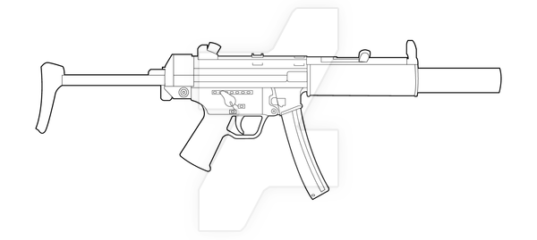 Hk Mp5sd Lineart By Masterchieffox Airsoftmemes Guns Drawing Guns Sketch Guns
