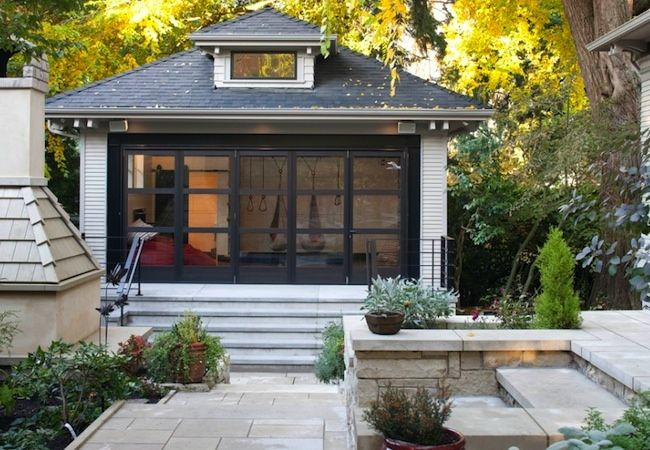 Garage Conversion Doors garage conversion - planning guide | cabana, gym and window