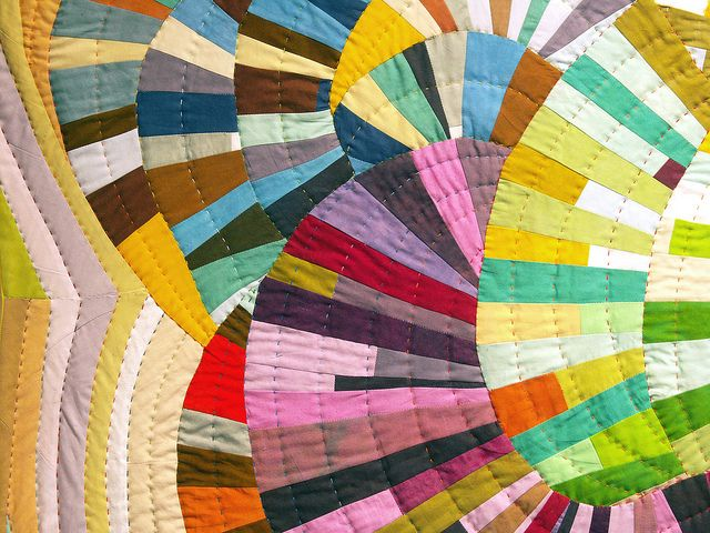 Quilt from @Daintytime This is wonderful - a glorious  rainbow explosion of quilting joy
