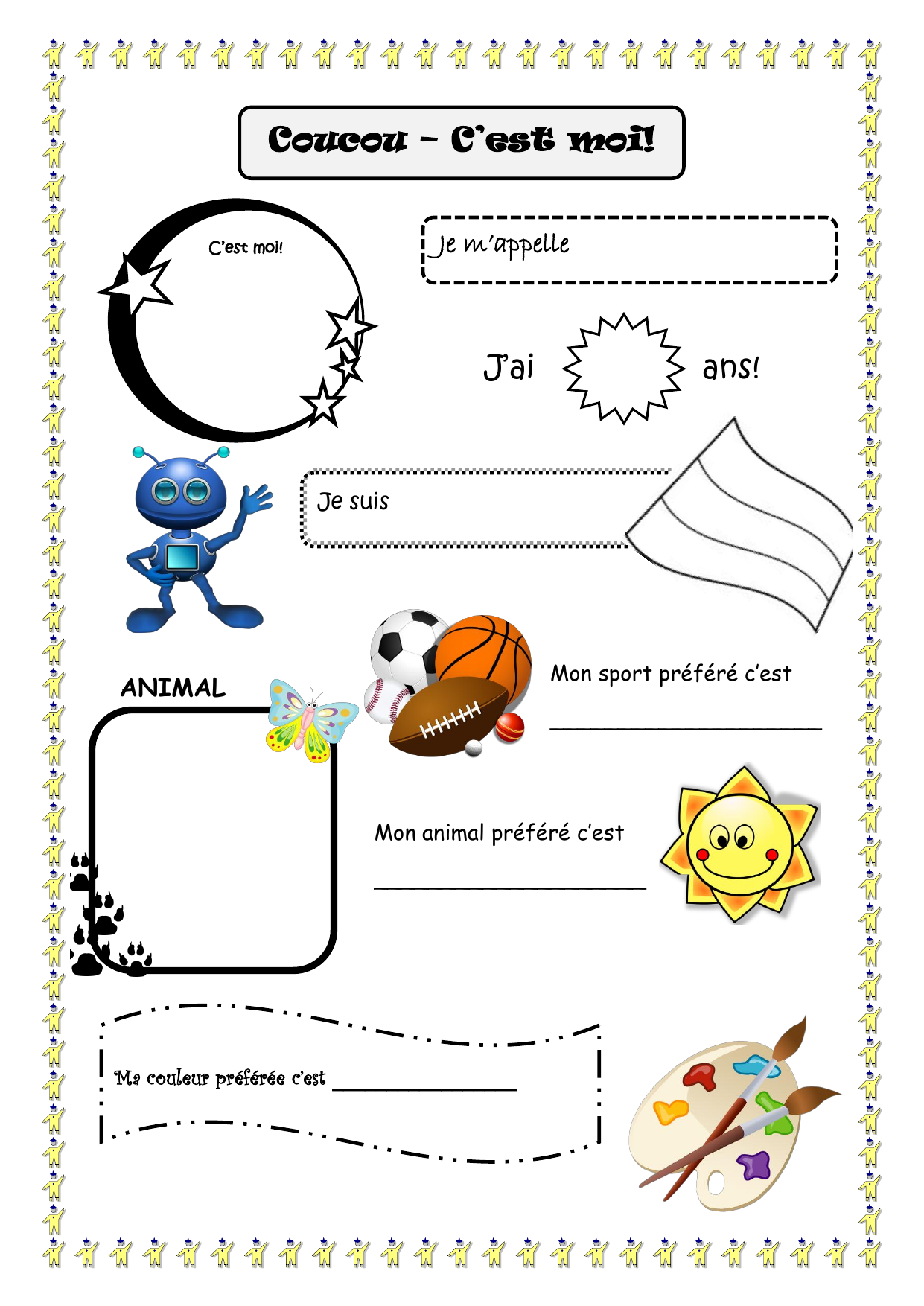A Worksheet Where Pupils Can Fill In The Blanks To Give