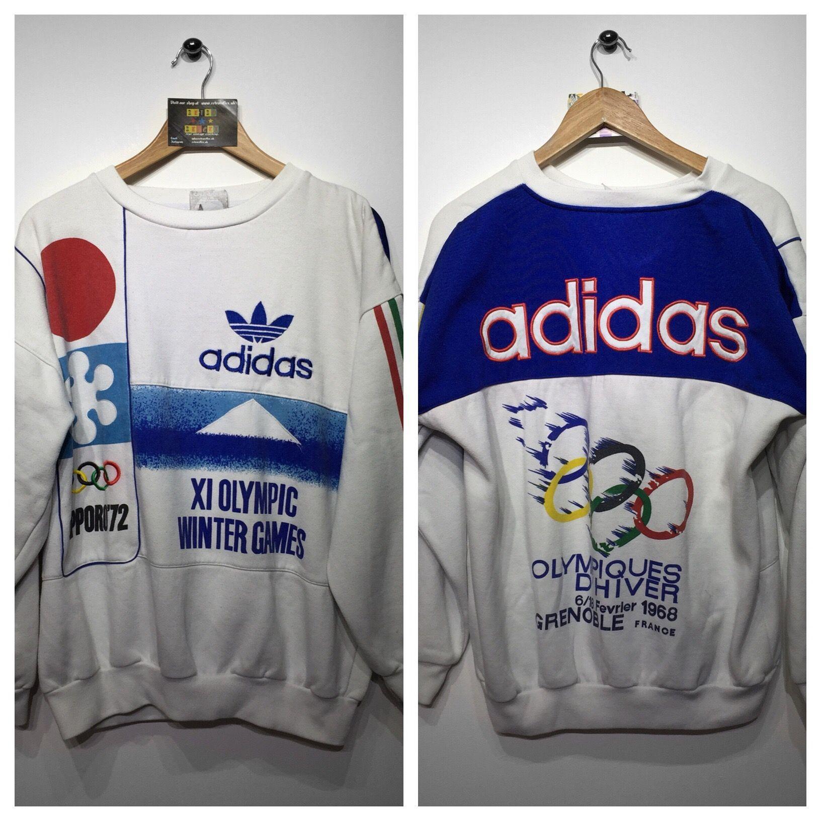 Rare Adidas Winter Olympic Games Sweatshirt Size Medium But Fits Oversized 120 Website Www Retroreflex Uk Adida Vintage Outfits Clothes Long Sweatshirt [ 1632 x 1632 Pixel ]