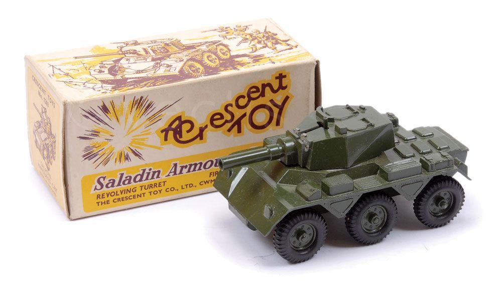 Crescent Toys Set 1263 Saladin Scout Car Vectis Toy