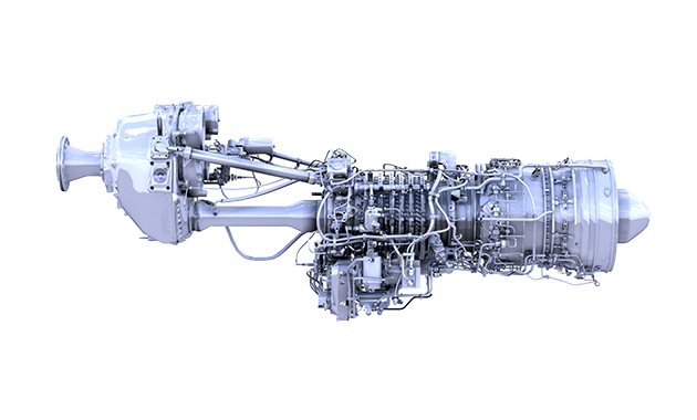 The AE 2100 turboprop is a two shaft gas turbine with a 14