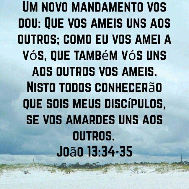 Jo 13 34 35 Joao 13 Palavra Amar Uns Aos Outros