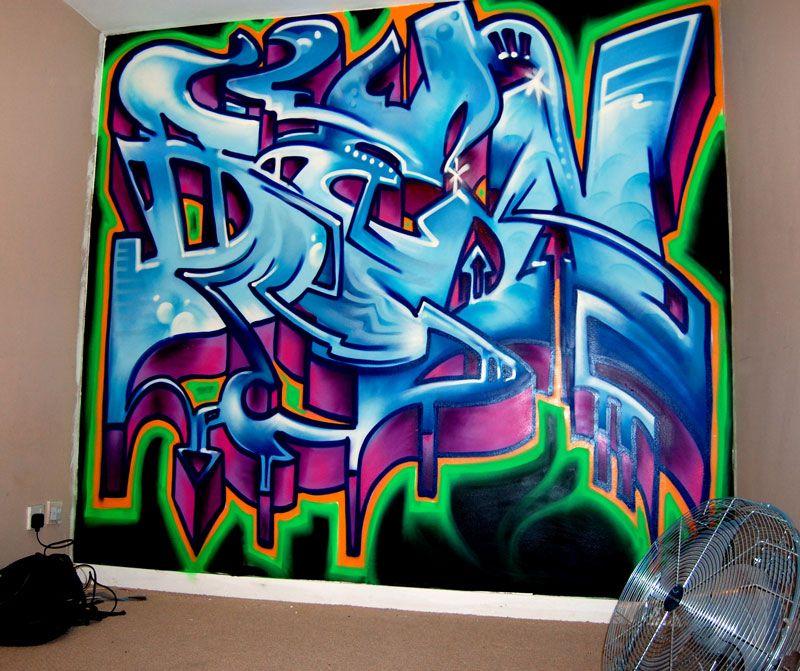 Bedroom Wall Art Graffiti: Teenage Boys Bedroom, Black, Graffiti