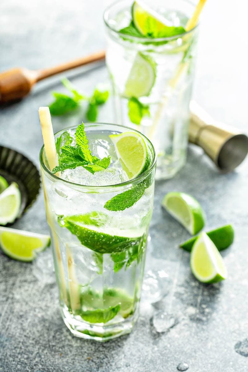 This Is The Best Mojito Recipe With A Quick Homemade Mojito Simple Syrup To Intensify The Flavor Pl Mojito Recipe Mojito Recipe Classic Infused Water Recipes