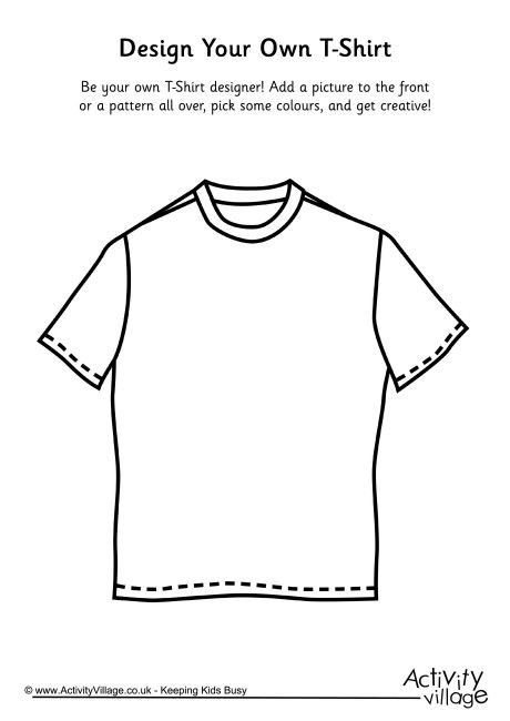 Design Your Own T Shirt Blackline Masters Templates