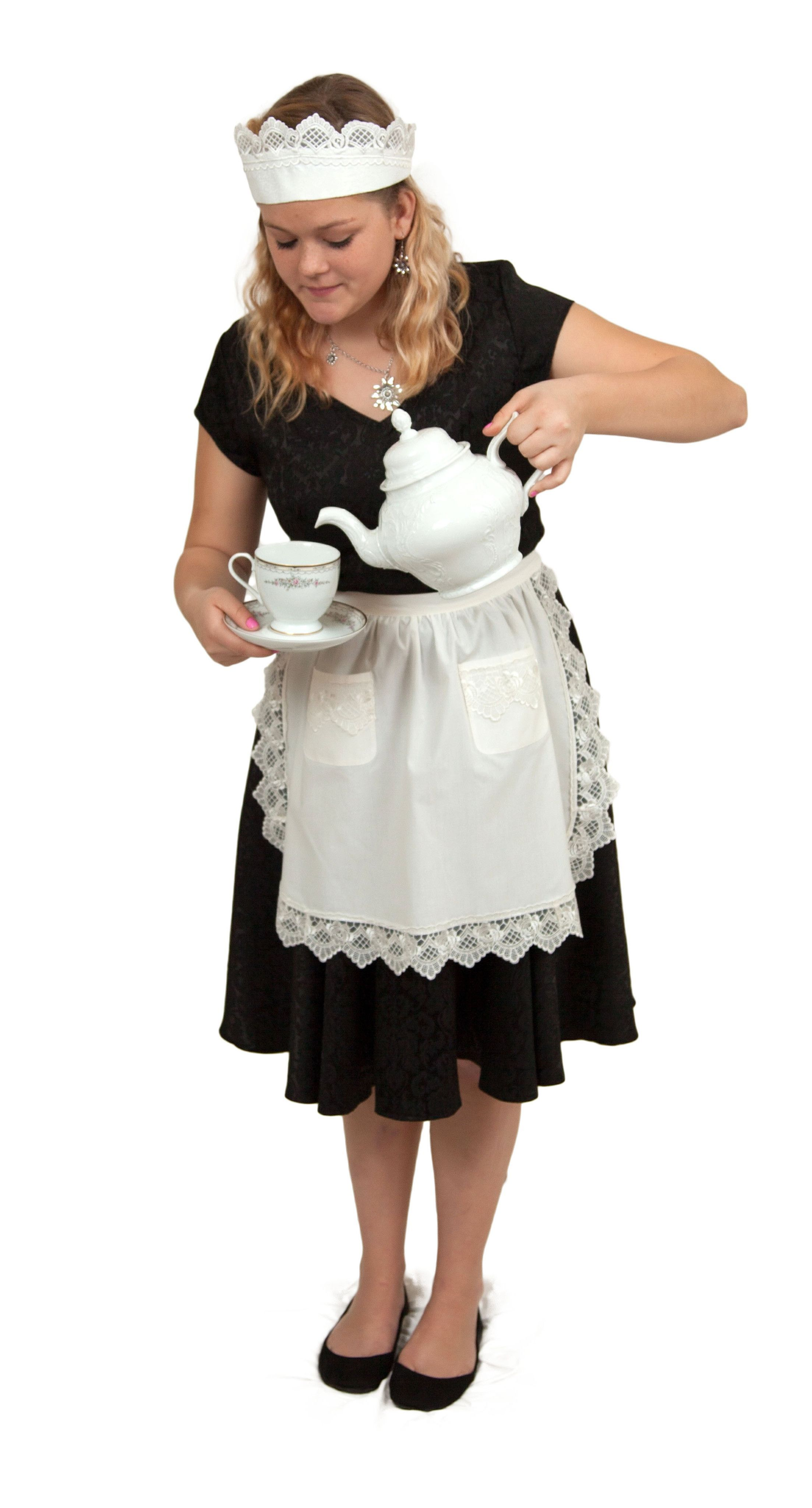 Lace Maid Costume Hat French maid costume, White lace