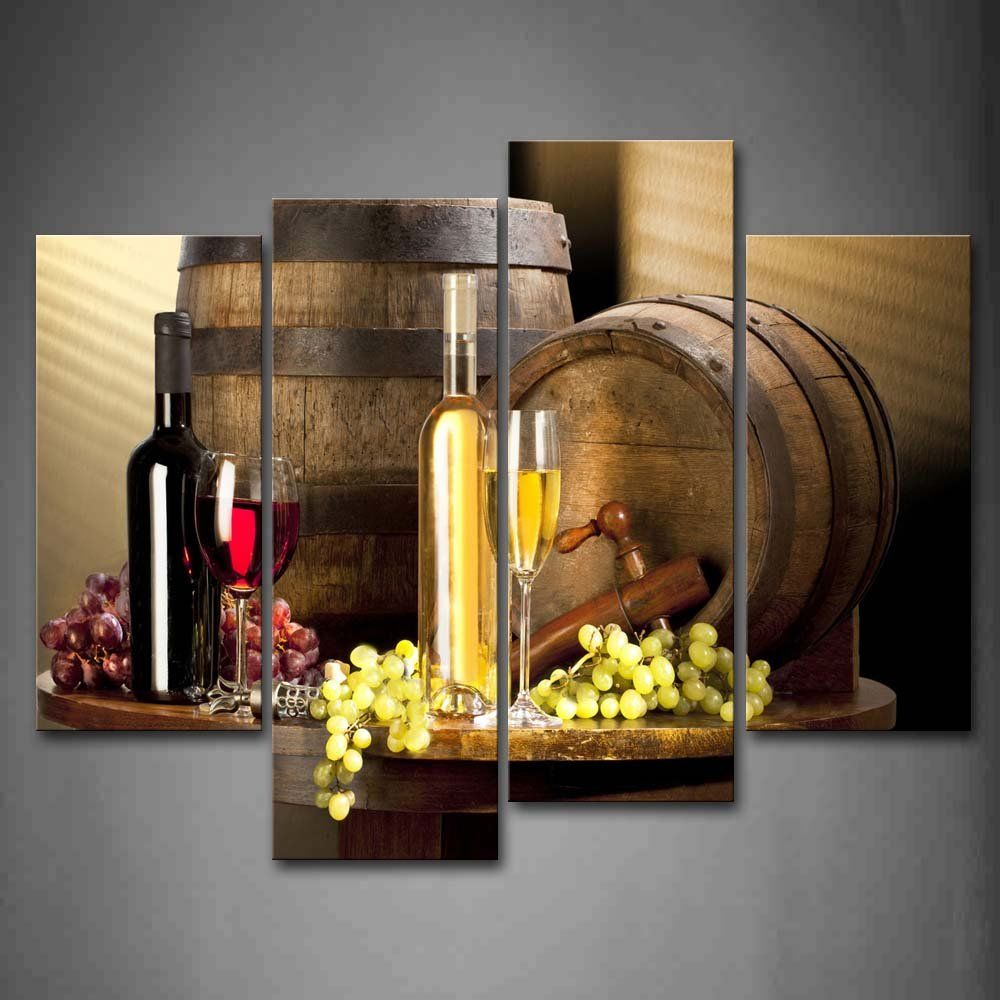Amazon various wine with grape wall art painting pictures print