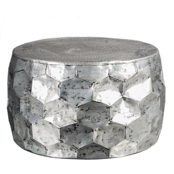 mesa de centro plateada hierro | Tiendas On | Catálogo muebles 2017 ...