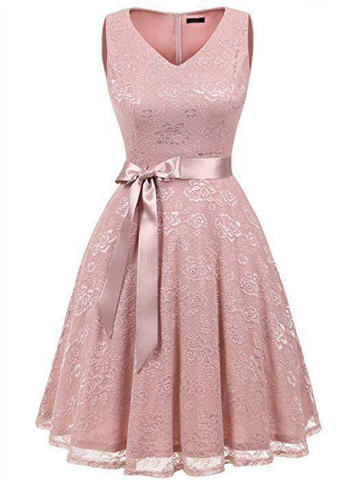 Ivnis Rs90025 Damen Armellos Vintage Spitzen Abendkleider Cocktail Party Floral Kleid Blush2 Xl Amazon De Bekleidung Abendkleid Schone Kleider Kleidung