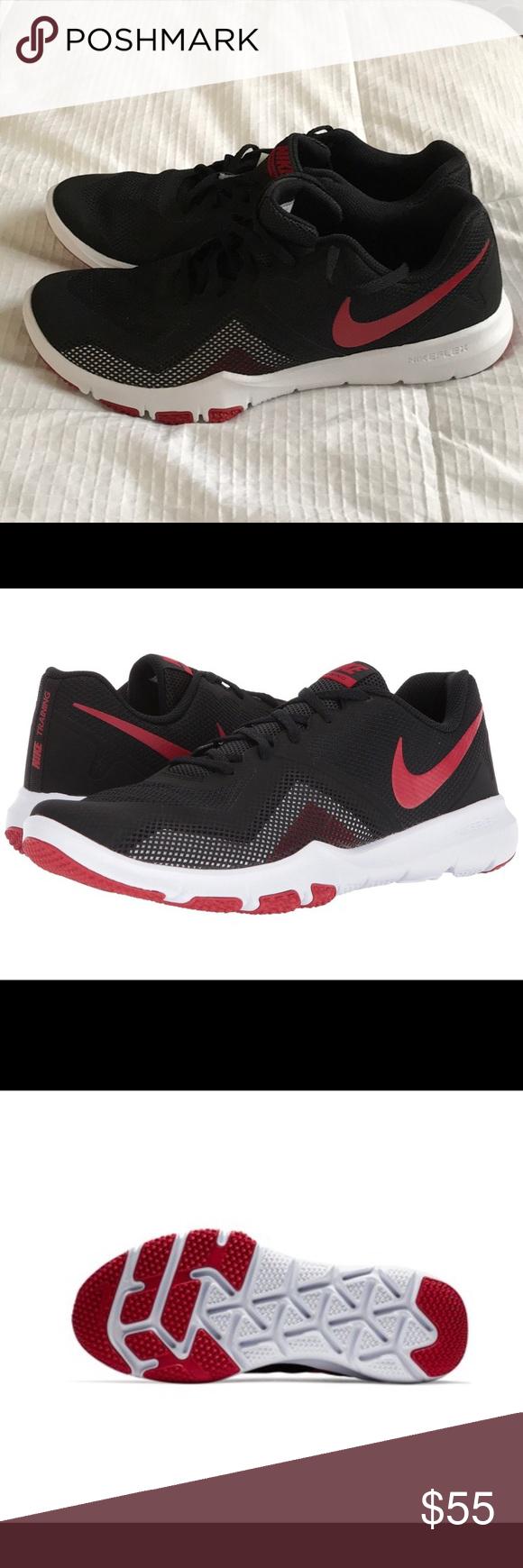 403d6b5d7b14 Nike Flex Control II Black Gym Red Trainers NEW Black   Gym Red - Soft