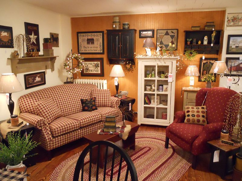 Kreamer brothers furniture country furniture annville for Primitive living room ideas