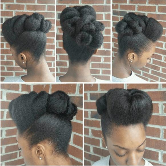 25 Stunning Natural Hair Updo Styles The Co Report Cheveux Naturels Chignon Sur Cheveux Naturels Coiffure Cheveux Naturels