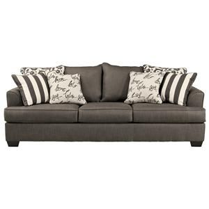 Signature Design by Ashley Levon Charcoal Queen Sofa Sleeper with