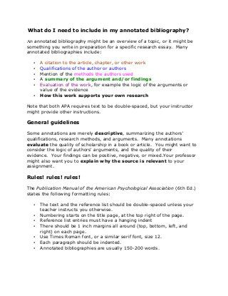 Sample APA Annotated Bibliography Nursing School Pinterest